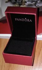 AUTHENTIC PANDORA JEWELRY RED ON RED CHARM/BEAD GIFT BOX WITH SLEEVE