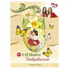 60 Frühlings-3-D-Motive im Buch vorgestanzt -  NEU (von Karin Jittenmeier)