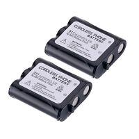 2 Pcs 3.6V 1500mah Home Telephone Battery for Panasonic P-P511 ER-P511 HHR-P402
