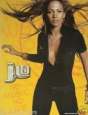 """Jennifer Lopez """"No Music, No Life"""" U.S. Promo Poster-Wearing LoCut Sexy Jumpsuit"""