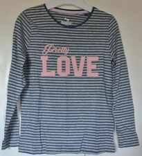 New 100% cotton long sleeve Top Grey/navy 12-18 months