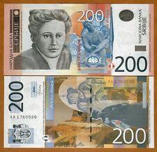 Serbia, 200 Dinara, 2013, P-58b, UNC