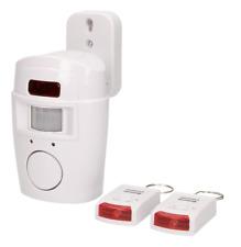 Hausalarm Alarm mit Bewegungsmelder Sirene PIR 2 IR-Fernbedienung Alarmanlage