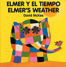 Elmer's Weather (English-Spanish) (Elmer series)-ExLibrary
