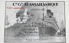 PUBLICITE CGT CIE GLE TRANSATLANTIQUE PAQUEBOT MEXIQUE FRENCH LINE DE 1930 AD