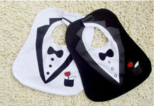 Set of 2 Tuxedo Gentleman Super Cute Baby Boy Layette Dressup Feeding Bibs