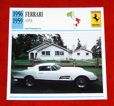 1956-59 Ferrari 410 Super America - Edito-Service, SA collector card