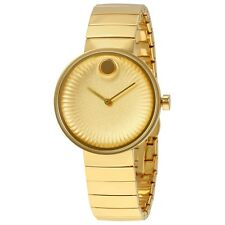 NEW Movado Edge Gold Bracelet 3680014 34mm Womens Swiss Watch