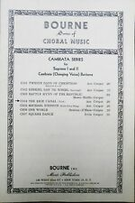 Bourne Series Choral Music Erie Canal Cambiata Soprano l ll Baritone Vintage1954