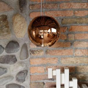 FontanaArte Globo di Luce Metallic Copper Pendant Suspension Light Mid Century