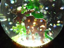Hallmark Gift Bag Moose in the Woods Lighted Snow Globe Free Ship Glitter New