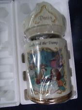 Disney Lenox Lady and the Tramp Animated Fine Porcelain Pasta Canister 1997