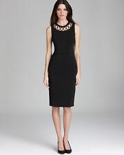 Raoul Black Cyane Cutout Bodycon Ponte Elegant Formal Dress. NWT Sz.8