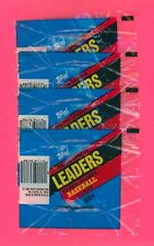 1986 TOPPS MAJOR LEAGUE LEADERS SUPER GLOSSY BASEBALL WRAPPERS / LOT OF 4