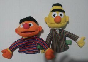 Bert & Ernie Sesame Street Hand Puppets 2003 Plush Toy by Gund