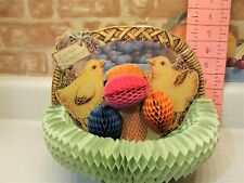 Vintage 1925 Fold Out Easter Basket Display With Chicks And Easter Eggs . Usa