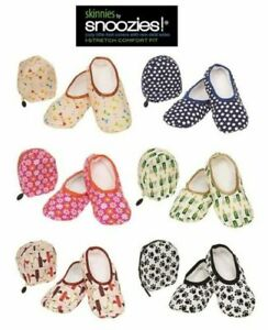 Snoozies! Skinnies Travel Slippers with Pouch - Lightweight Non-Slip