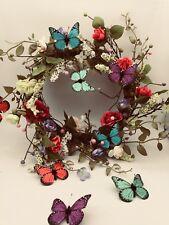 """Handmade Wreath Front Door Window Hanging 34cm (13.3"""") with Artificial Flower"""