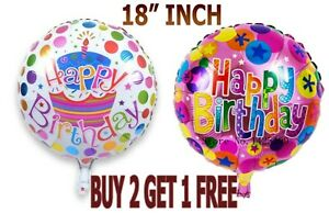 """18"""" Foil Balloons  Large Happy Birthday Air Balloons Party Balloons Decoration"""