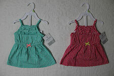 NEW CARTERS BABY GIRLS DRESS WITH DIAPER COVER NWT VARIOUS SIZES & SIZES
