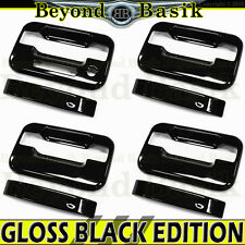 04-14 Ford F150 Crew Cab GLOSS BLACK Door Handle COVERS Overlay w/o psk w/keypad