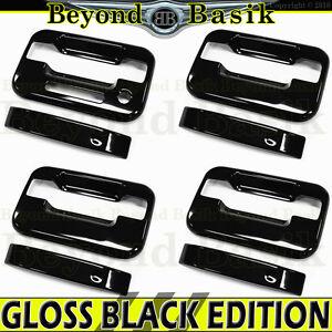 2004-2014 Ford F150 Crew cab GLOSS BLACK Door Handle Covers w/Keypad no PSKH