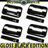 2004-2014 Ford F150 Crew cab GLOSS BLACK Door Handle Covers w/Keypad no PSKH