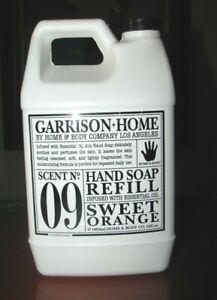 No 09 SWEET ORANGE Garrison + Home & Body Co HAND SOAP Refill 64 oz