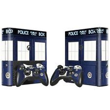 Xbox 360 E Console Skin Decal Sticker Doctor Who + 2 Controller Custom Design
