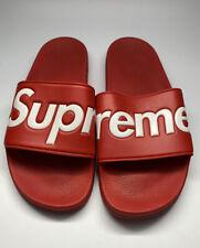 Authentic 🚨 Supreme Slides Sandals Flip Flops Slides SS14 Red Mens Size 11