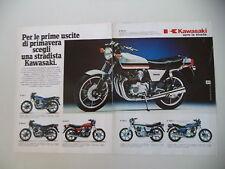 advertising Pubblicità 1982 MOTO KAWASAKI Z 550/400 J/500 B/650 F/750 L/1000 J