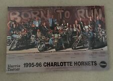 Charlotte Hornets 1995-96 Mounted Photograph Born To Run Players On Motorcycles