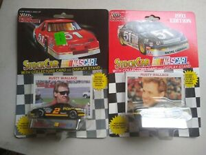 1991&1993 Racing Champions Nascar Stock Car Rusty Wallace #2 1:64 Scale Die Cast