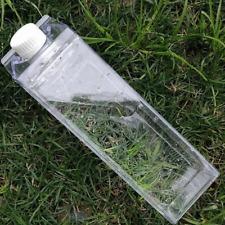 500ml Dairy Milk Carton Box Clear Plastic Water Bottle *US SELLER* Ships Fast