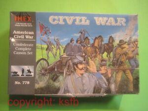 1/32 Imex 778 US Bürgerkrieg Südstaaten Großbox Artillerie Kutsche Soldaten ACW