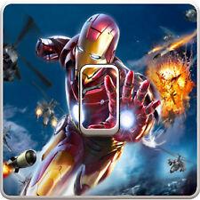 Marvel Iron Man Avengers Light Switch Vinyl Sticker Decal for Kids Bedroom #40