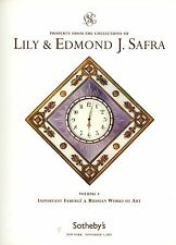 Lily Ed Safra Auction Catalog Russian Art Faberge Silver Gold Clocks Tableware