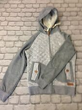 NANNY STATE MENS BLUEY GREY UK S QUILTED ZIP THROUGH HOODIE