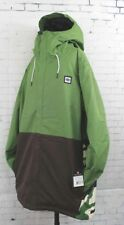 2019 686 Mens Foundation Insulated Snowboard Jacket Large Camp Green/Colorblock