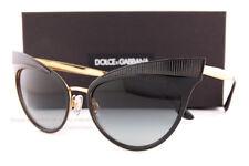 89bb423700e6 Brand New Dolce   Gabbana Sunglasses DG 2178 1312 8G Black Gold Grey  Gradient