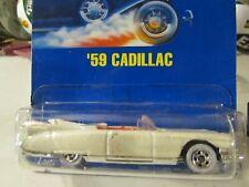 Hot Wheels 59 Cadillac #154 White all blue card