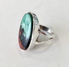 40% SALE! Genuine Sterling Silver Chrysocolla Cuprite Bezel Set Ring RRP $250.00