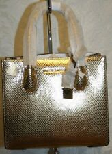 MICHAEL KORS MERCER KORS STUDIO MEDIUM MESSENGER GOLD 30H7MM9M1K LEATHER