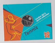 TENNIS - Rare 50p Olympic LONDON 2012 Fifty Pence Uncirculated Coin in Folder-