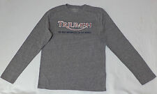 NWT Triumph Long Sleeve Gray Graphic T-Shirt        Medium       L1199