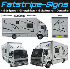 5m MOTORHOME VINYL GRAPHICS STICKERS DECALS CAMPER VAN RV CARAVAN HORSEBOX DAF