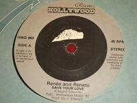 "VINYL 7"" SINGLE -Renee & Renato - Save your love - HWD 003"