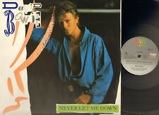 """DAVID BOWIE 4 track 12"""" Inch NEVER LET ME DOWN  '87 & and CRY"""