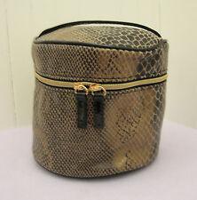 Lancome Round Make Up Train Case Bag ~LEOPARD PRINT~Top Handle