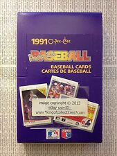 1991 O-Pee-Chee Premier Baseball 36 Count Pack WAX BOX from SEALED CASE OPC